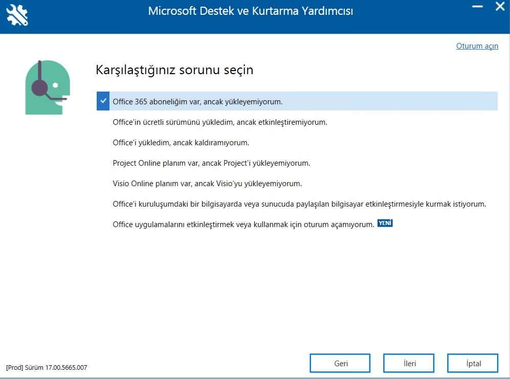 Microsoft Support and Recovery Assistant indir